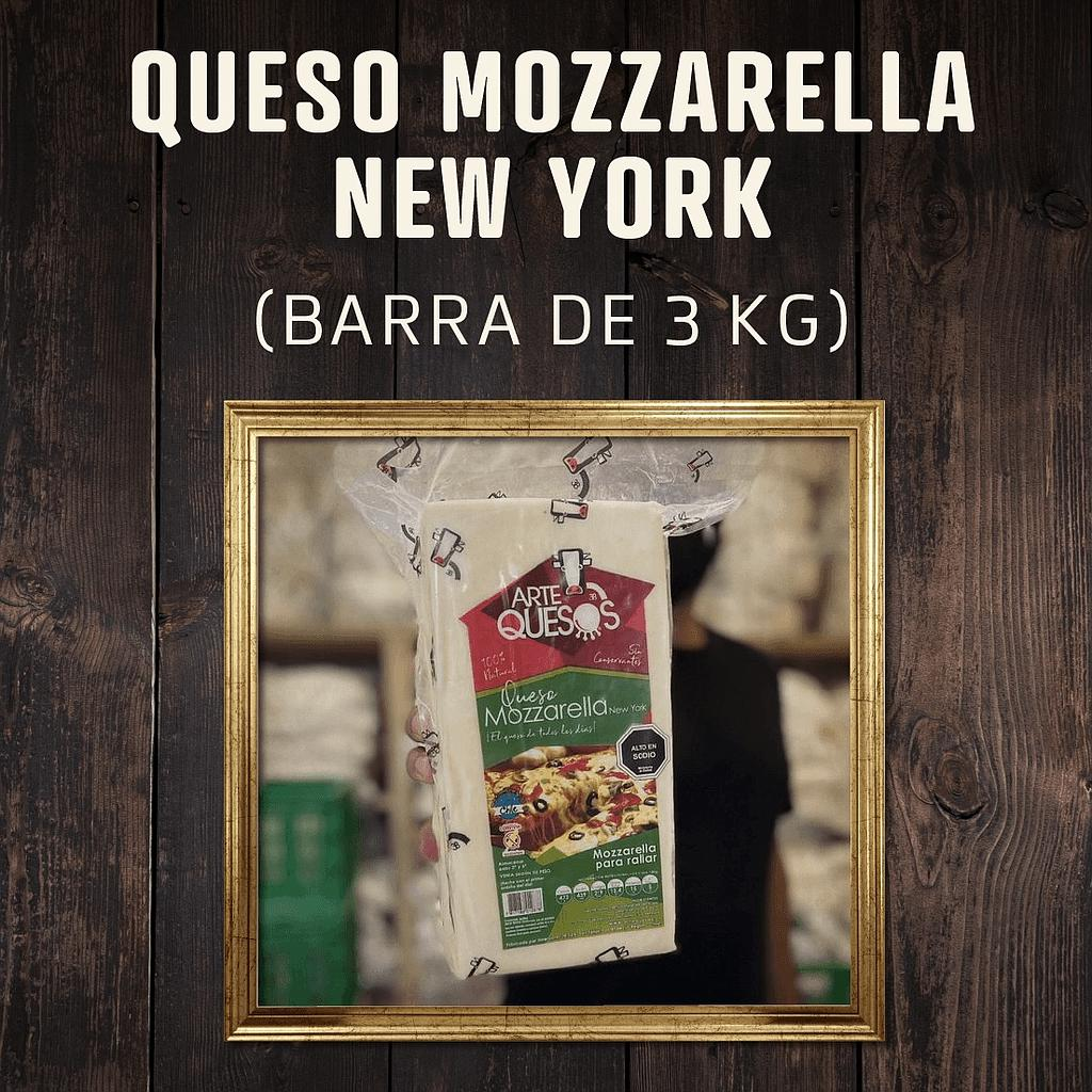 Queso Mozzarella New York ArteQuesos (Barra de 3 Kg)